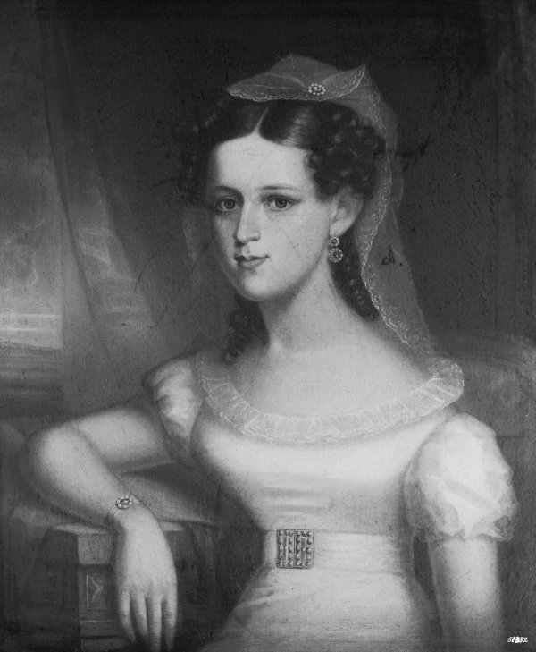 Mrs Seaborn Jones, c. 1826-46, by C.R. Parker.
